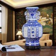 Hollow Carved Chinese Porcelain Vase Lamp Manufactures