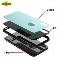 China Tempered Glass Phone Case For IPhone X PC Case Tempered Glass on sale