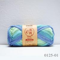 Colorful 100% Mercerized Cotton Space Dyed Hand Knitting Yarn Manufactures