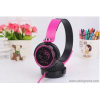 China General headset Hello Kitty cute girl cartoon flat wire with wheat KT-30 headset on sale