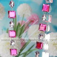 Crystal Rose Color 19mm Square Clear 13*18mm Oval --YZJ013