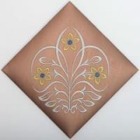 Luxry European style home decoration embroidery leather wall tile Item No.: JSE16