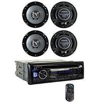 Kenwood KDC-BT362U Bluetooth Smartphone Player Car Stereo + 2) 6.5 Inch Speakers Manufactures