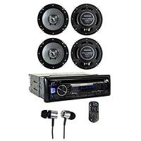 Kenwood KDC-BT362U Bluetooth Player Car Stereo Radio + 6.5 & 6x9 Inch Speakers Manufactures