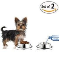 GPET Dog Bowl with Rubber Base, Stainless Steel 16 Ounce (Set of 2) Manufactures