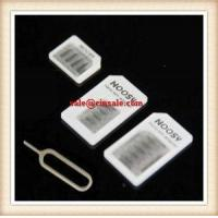 Noosy Micro Nano sim adapter for Iphone 5 4 with High Grade Retail Box Fast Ship Manufactures