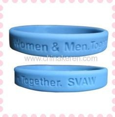 Quality 2012 Cute blue Customized Silicone Bracelets for sale