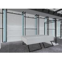 Simple Nice Men Clothing Display Case / Apparel Store Fixtures Glossy White Color Manufactures