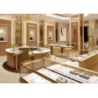 Buy cheap Fully - Assembled Gold Metal Showroom Display Cases Customized 3D Design from wholesalers