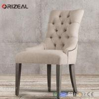 Orizeal French Vintage Tufted Fabric Armchair with Wooden Frame Manufactures