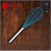 Silicone Egg Mixer Beater,Silicone Egg Whisk,Egg Beater with stainless steel handle Manufactures