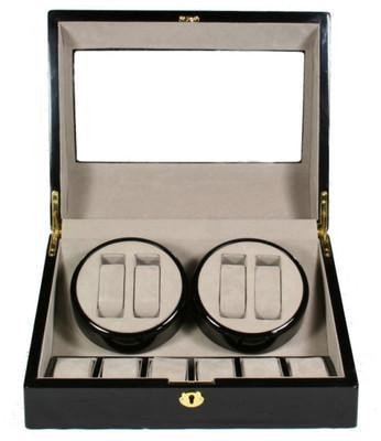 Quality TOP QUALITY AUTOMATIC QUAD WATCH WINDER 4+6 STORAGE BOX CASE for sale