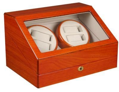 China TOP QUALITY AUTOMATIC QUAD WATCH WINDER 4+6 STORAGE BOX CASE-WW4+6OAK