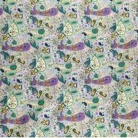 Europe fashion colorful poplin peiris flower printed fabric cotton for dress Manufactures