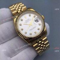 China Knockoff Rolex Datejust Mens Watch Gold Jubilee Band Silver Dial 36mm on sale