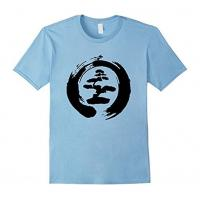 China Cool Bonsai Tree T-shirt Gift for Yoga Lovers Men on sale