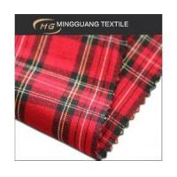 China Polyester viscose spandex check uniform fabric supplier in China on sale