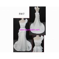 F417 glamorous sleevess guangdong latest designer wedding dress