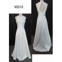 China V0315 wholesale price A line elegant satin with beading guangdong latest design wedding dress on sale