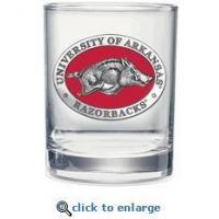 Arkansas Razorbacks Double Old Fashioned Glasses - Set of 2