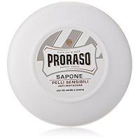 China Proraso White Shaving Soap In A Bowl Sensitive Skin 150ml by PRORASO on sale