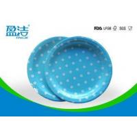 Buy cheap Odourless Smell Disposable Paper Plates 6 7 9 Inch With Certificates SGS FDA LFGB from wholesalers