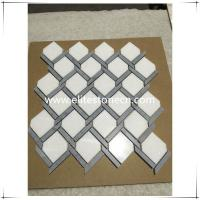 Buy cheap ES-J28 Thassos Marble mosaic tile bathroom wall mosaic from wholesalers