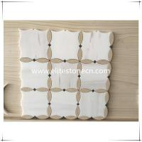 Buy cheap ES-W07 Bathroom Wall Decor Beige Flower Marble Mosaic Tile from wholesalers