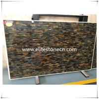 Buy cheap ES-P01 Best Hotel and Villa decor Precious Yellow Blue Tiger Eye Gemstone Slab Price from wholesalers