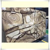 Buy cheap ES-G02 Roman impression yellow granite slabs indoor walls decoration for sale from wholesalers