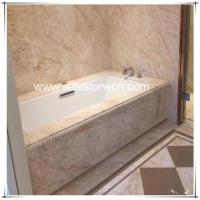 Quality ES-M09 Golden Spider Marble Polished White Marble With Gold Vein for sale