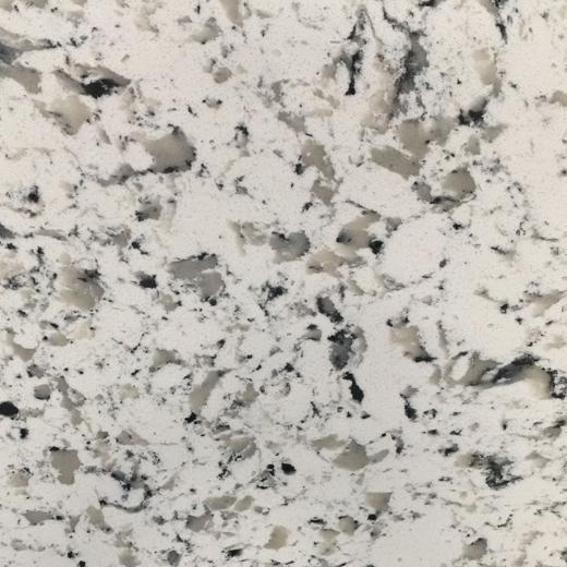 Quality Sesame White Engineered Quartz Kitchen Top Cost in China Manufacturing Factory for sale