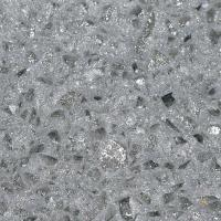 OP7001 Crystal Shining Light Grey quartz resin countertops international slab sales Manufactures