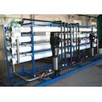 40TPD Capacity Saltwater To Drinking Water Plant , Salt Water Reverse Osmosis System Manufactures
