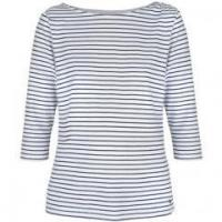 Womens Yarn Dyed Stripe T-shirt Manufactures