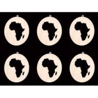 Buy cheap 6 pieces africa continent ornament 4 inch tall craft wood cutout from wholesalers