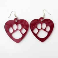Buy cheap MARCH MADNESS Red Paw Print Earrings Large Blue Wildcat Arizona Kentucky Sports from wholesalers