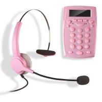 AGPtek Call Center Dialpad Corded Headset Pink Telephone with Tone Dial Key Pad & REDIAL Manufactures
