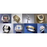 Unique Celtic Cross Jewelry - Heraldic Customized Family Crest Ring Manufactures
