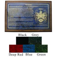 Family Name Plaque with Coat of Arms and Long History Manufactures