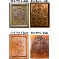 Coat of Arms Wood Carvings or Custom Carved Wood Plaques Manufactures