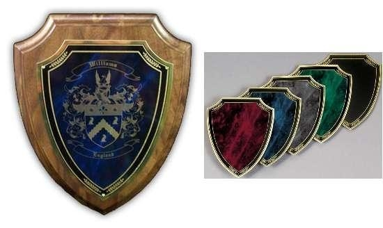 Quality Coat of Arms laser Engraved Marble Wooden Wall Plaques for sale