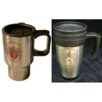 Travel Mug with Family Crest / Coat of Arms Manufactures