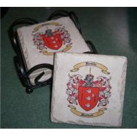 Stone Drink Coasters with Coat of Arms Print