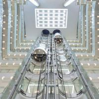 China Sightseeing Lift Stainless Steel Pneumatic Lifting Platform Outdoor Round Glass Panoramic Elevator on sale