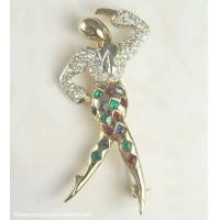 "Vintage MARCEL BOUCHER ""Harlequin"" Ballet Dancer Pin from the ""Ballet of Jewels"" Line ~ BOOK Manufactures"