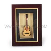 Buy cheap Mini guitar unique decoration frame and decorative photo frame art frame wood from wholesalers