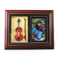Buy cheap Custom picture frame with mini violin photo frame Musical Instrument from wholesalers