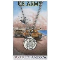 China Design Your Own Pewter St. Michael Army 24in Necklace on Holy Card on sale