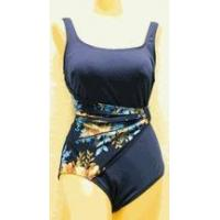 Swimwear SOLD OUT Roxanne navy & floral draped sash swimsuit Manufactures